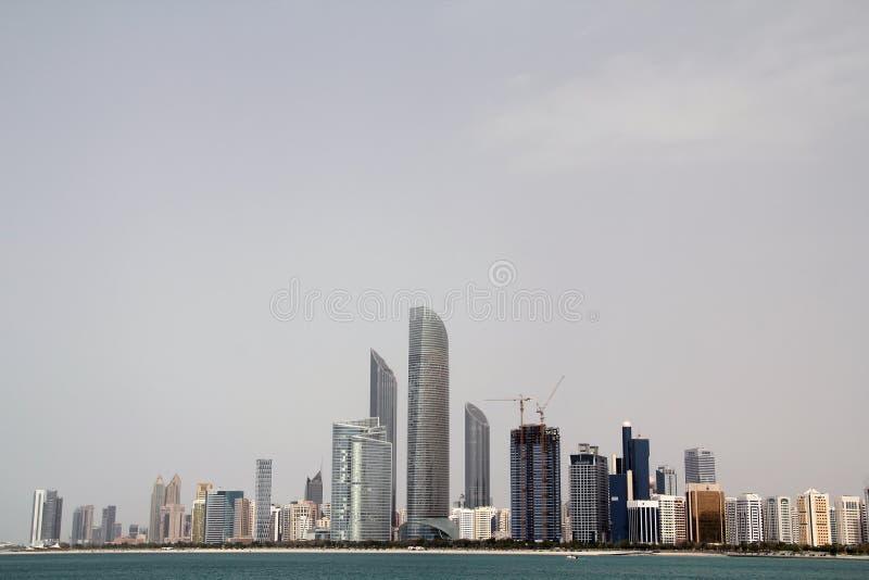 Abu Dhabi Modern Skyline stock image