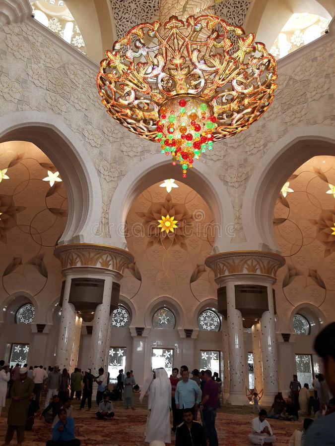 Abu Dhabi Mosque arkivfoto
