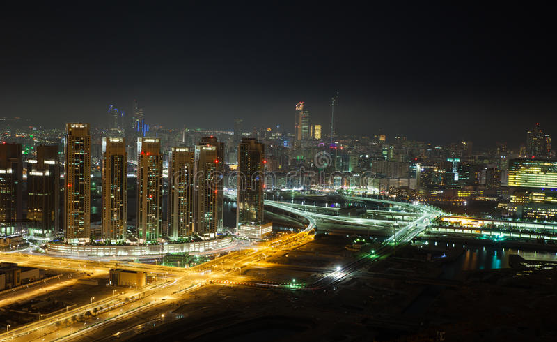 Abu Dhabi Night stock image