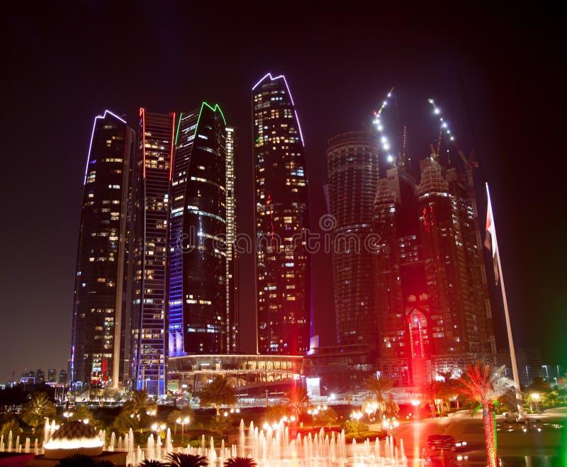 Abu Dhabi Night royalty free stock image
