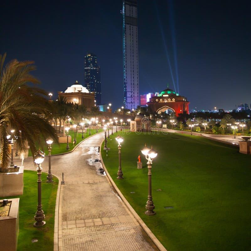 Abu Dhabi Night stock photo