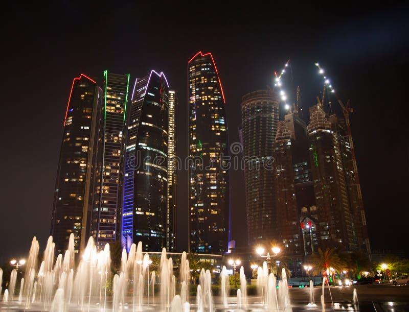 Abu Dhabi Night stock photos
