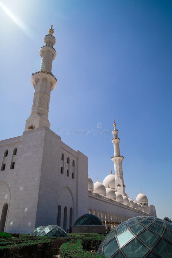 Abu Dhabi Sheikh Zayed mosque stock image