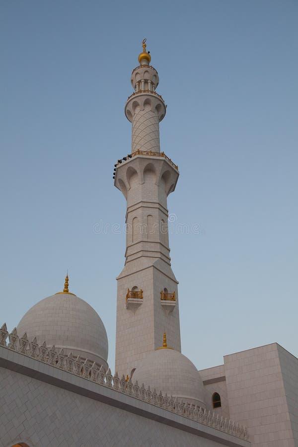 Abu Dhabi Sheikh Zayed White Mosque Royalty Free Stock Photo