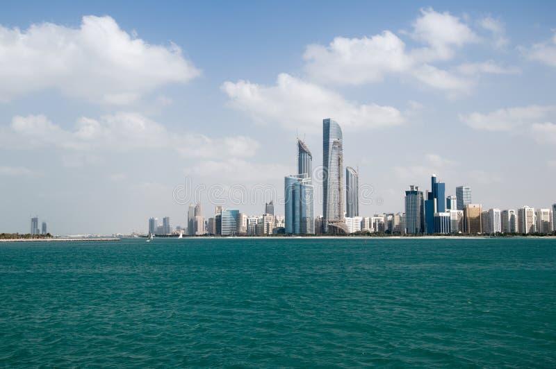 Abu Dhabi sky scraper. stock photo