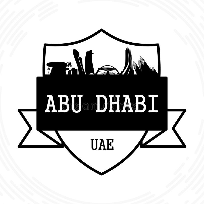 Abu Dhabi Skyline vektor illustrationer