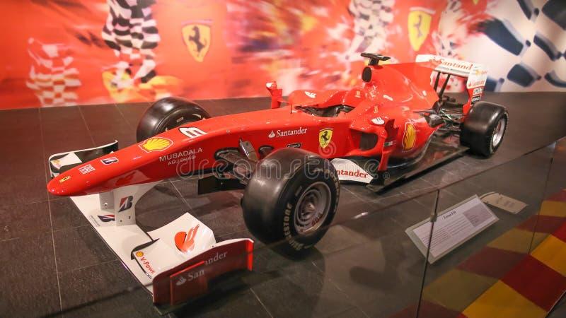 ABU DHABI, UAE - AUGUST 20, 2014: Ferrari World at Yas Island in Abu Dhabi. Legendary retro cars Ferrari. stock photo