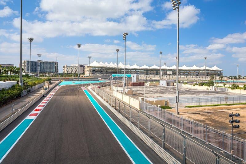 The Yas Marina Grand Prix Circuit on January 05, 2017 in Abu Dhabi, United Arab Emirates. ABU DHABI, UAE - January 05: The Yas Marina Grand Prix Circuit on stock image