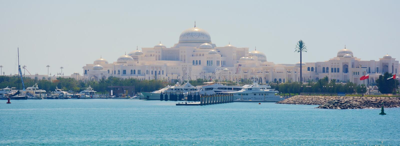ABU DHABI UAE - MARS 26, 2016: Abu Dhabi arkivbilder