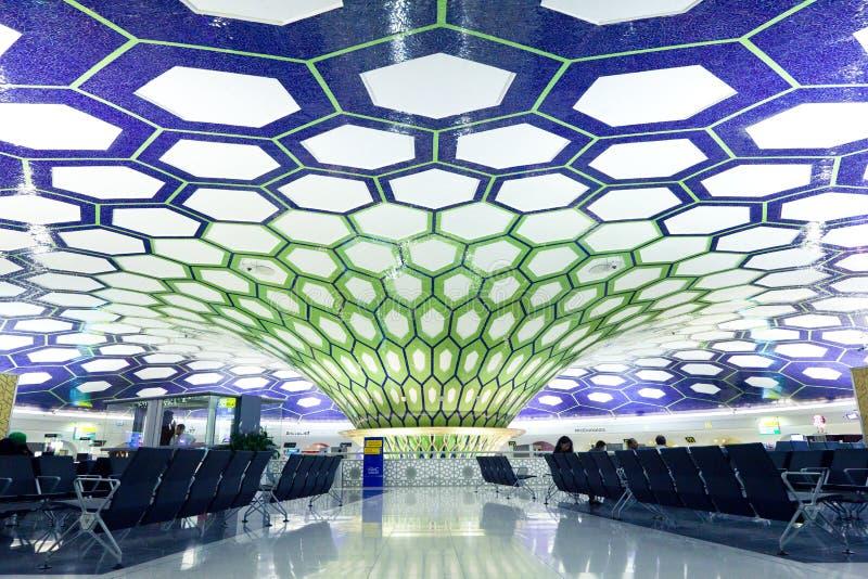 Abu Dhabi, UAE - NOVEMBER 26: Abu Dhabi International Airport on November 26, 2012. royalty free stock photo