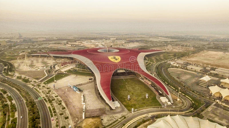 ABU DHABI, UNITED ARAB EMIRATES - DECEMBER 6, 2016: Aerial view stock photography