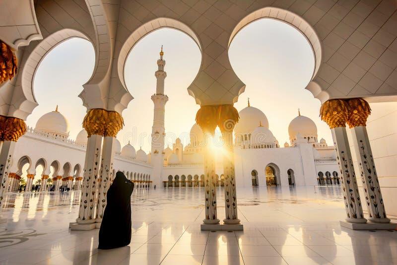 abu dhabi uroczysty meczetowy sheikh uae zayed fotografia royalty free