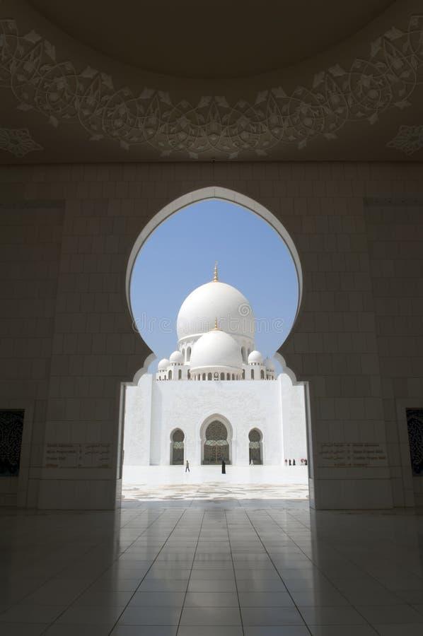Abu Dhabi Zayed Mosque. United Arab Emirates Zayed Mosque Abu Dhabi stock photo