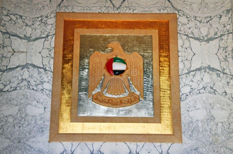 Abu Dhabi, Zjednoczone Emiraty Arabskie, Marzec, 19, 2019 Ręki w pałac prezydenckim, pałac Qasr Al Watan pałac naród obraz royalty free