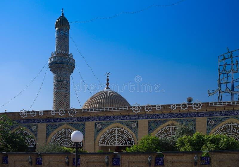 Abu Hanifa Mosque in Baghdad, Iraq. Exterior view of Abu Hanifa Mosque in Baghdad, Iraq royalty free stock photo
