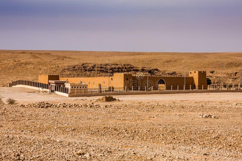 Abu Jifan Fort Palace en el desierto cerca de Riad fotos de archivo libres de regalías