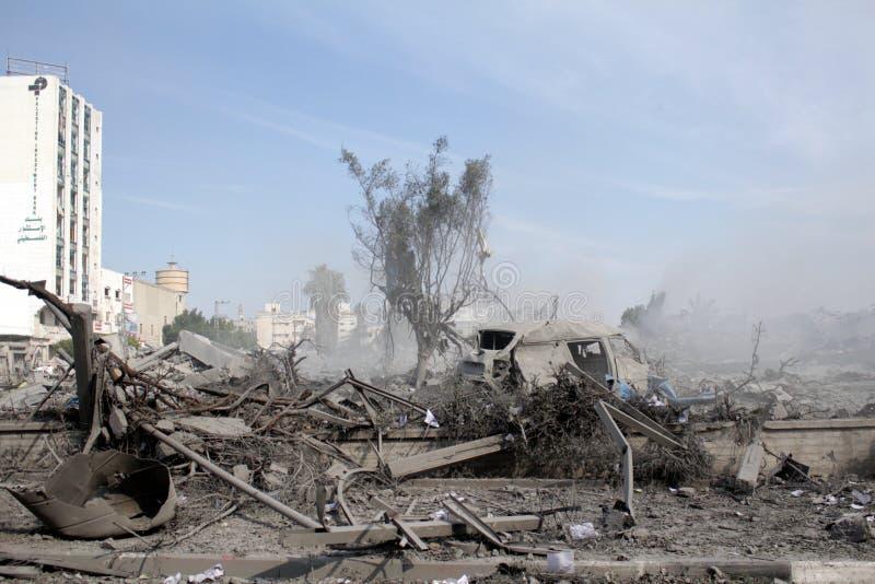 Abu khadra废墟 免版税库存照片