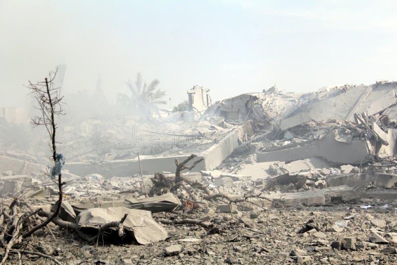 Abu khadra Ruinen stockbilder