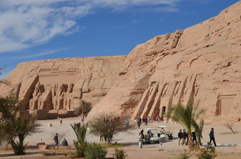 Abu Simbel świątynia, Antyczny Egipt fotografia stock