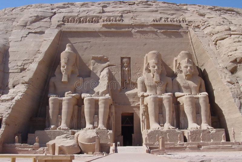 Abu Simbel stockfotografie