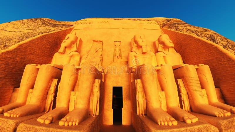 Abu Simbel royalty illustrazione gratis