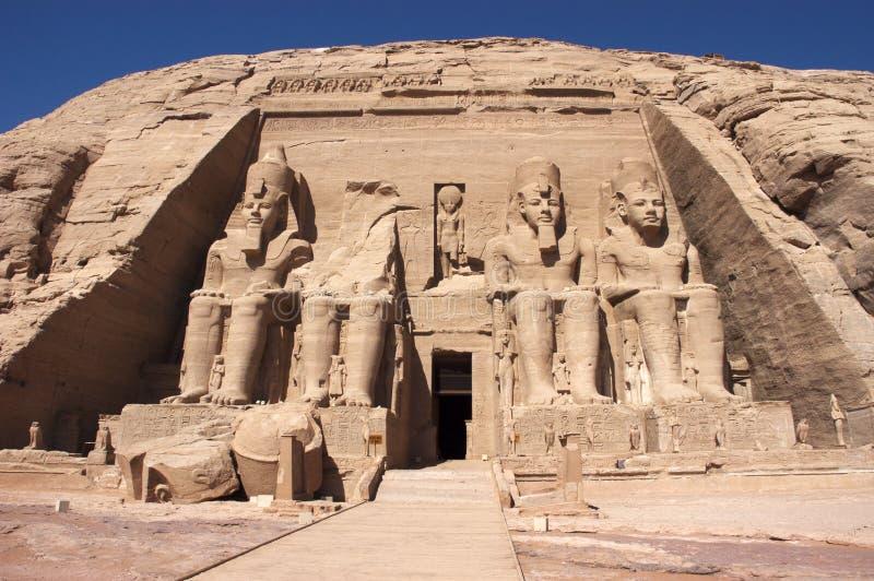 Abu Simbel, Egipto antiguo foto de archivo