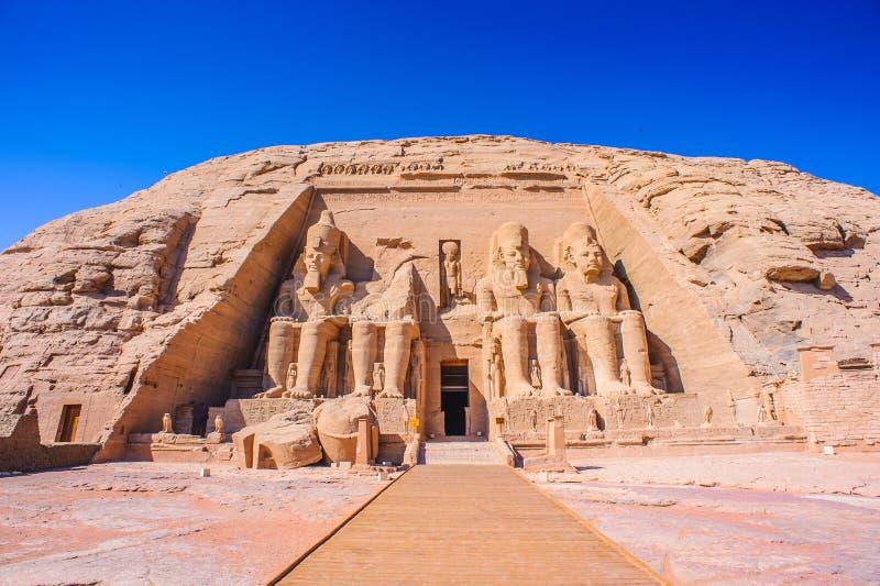 abu simbel Egiptu obrazy stock