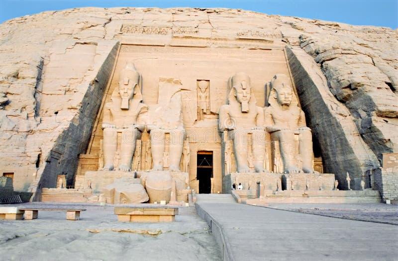 Abu Simbel, Egypte. stock afbeelding
