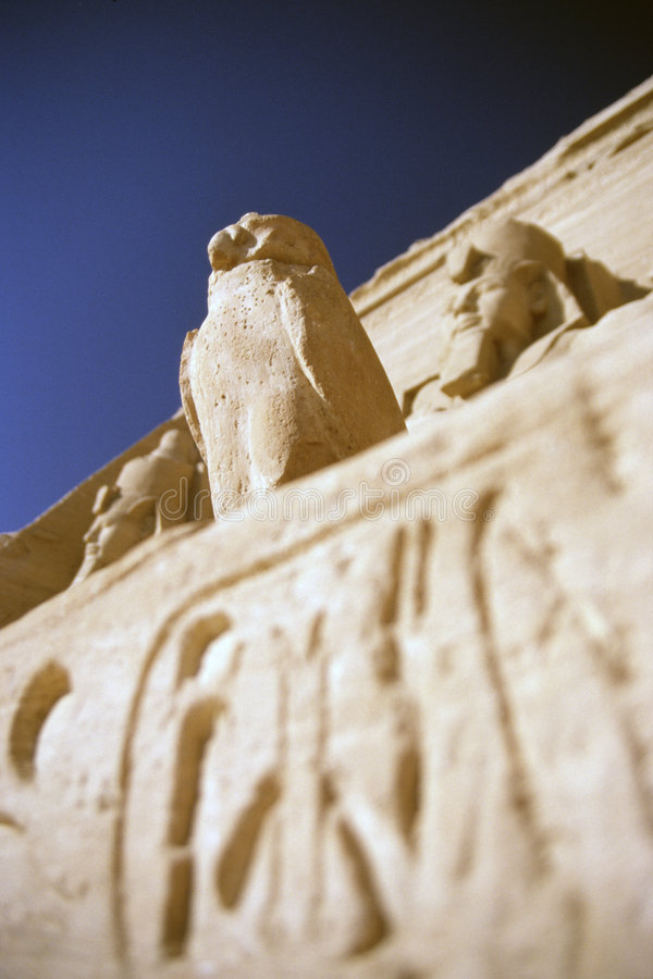 Abu simbel pharaoh royalty free stock image