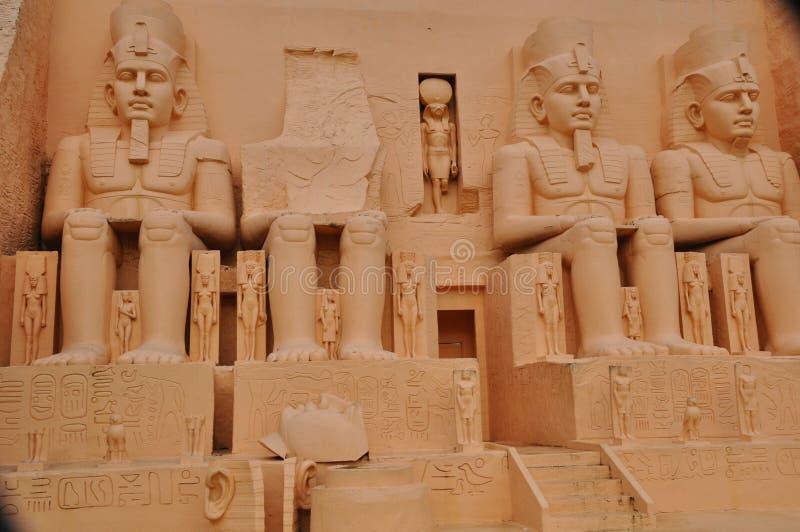 Abu Simbel Replica in Mini Siam in Pattaya royalty-vrije stock fotografie