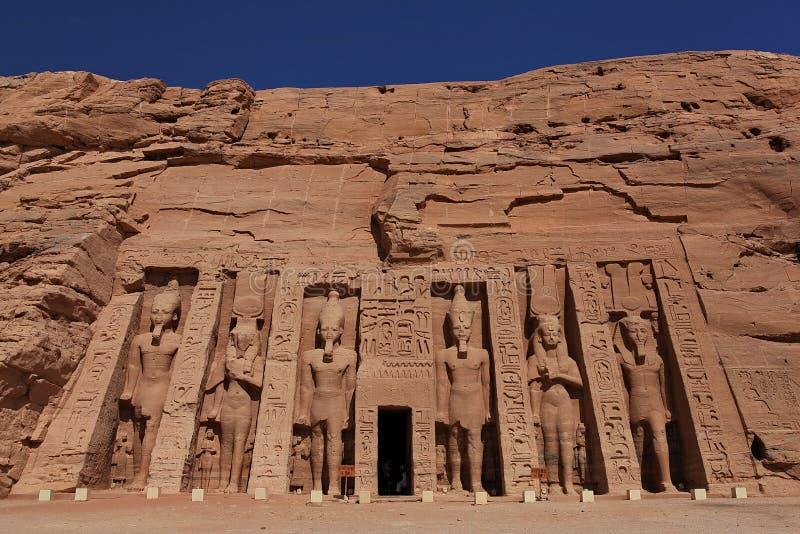 Abu Simbel Sanctuary, Ägypten lizenzfreies stockbild