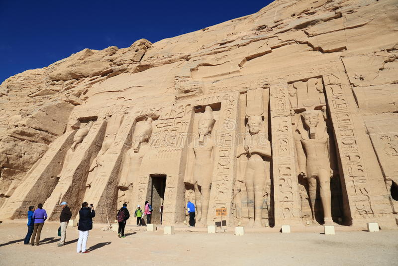Abu Simbel tempel arkivbilder