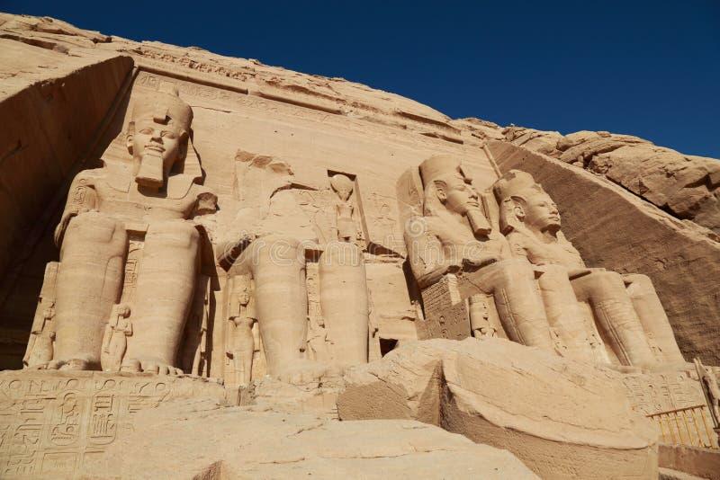 Abu Simbel tempel royaltyfri fotografi