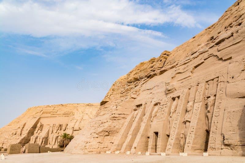 Abu Simbel tempel, Aswan, Egypten fotografering för bildbyråer