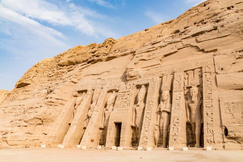 Abu Simbel tempel, Aswan, Egypten royaltyfria bilder