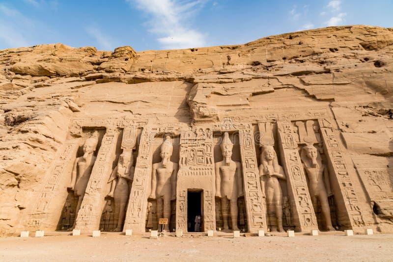 Abu Simbel tempel, Aswan, Egypten arkivfoton