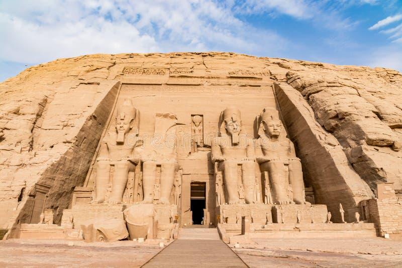 Abu Simbel tempel, Aswan, Egypten royaltyfria foton