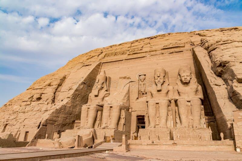 Abu Simbel tempel, Aswan, Egypten royaltyfri foto