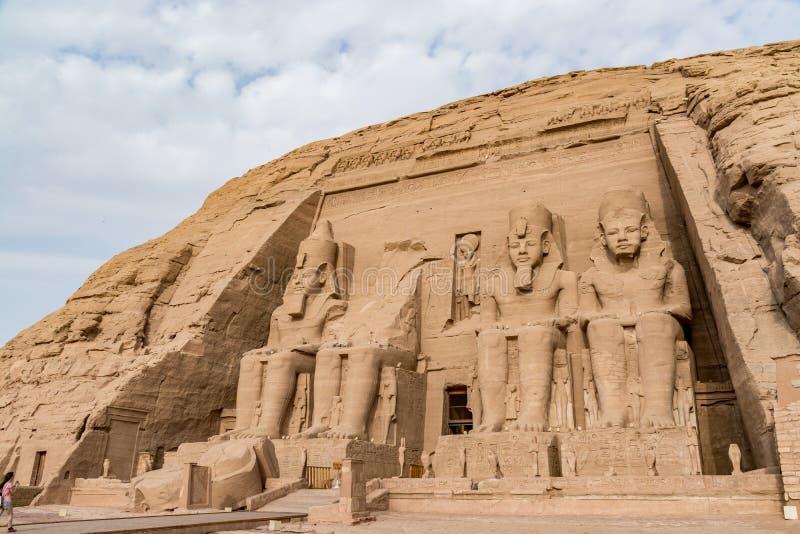 Abu Simbel tempel, Aswan, Egypten royaltyfri fotografi