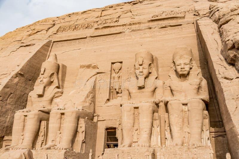 Abu Simbel tempel, Aswan, Egypten royaltyfri bild