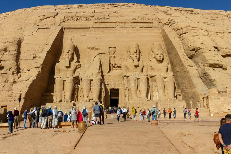 Abu Simbel-tempel in Egypte stock foto