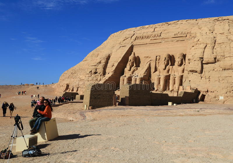 Abu Simbel Temple royalty-vrije stock afbeelding