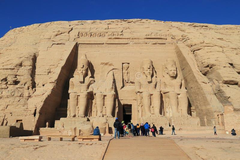 Abu Simbel Temple stock foto's
