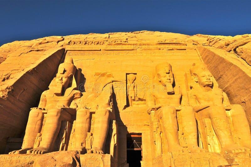 Abu Simbel Temple av konungen Ramses II fotografering för bildbyråer