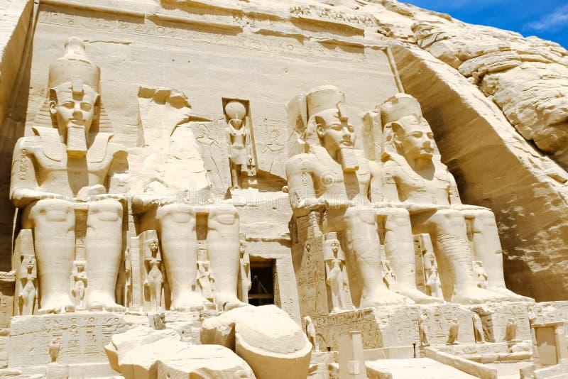 Abu Simbel Temple av Ramesses II, Egypten arkivbilder