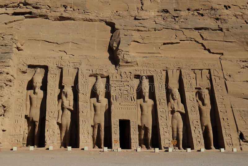 Abu Simbel Temple in Egypt. Due to the large increase in population in the 20th century, Egypt and the Sudan government decided to build a new dam in order to stock photos