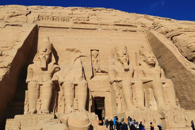 Abu Simbel temple stock photography