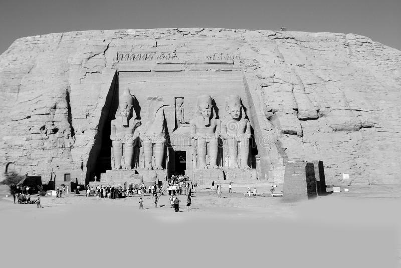 The Abu Simbel temples. Are two massive rock temples in Abu Simbel in Nubia, southern Egypt.The complex is part of the UNESCO World Heritage Site known as the royalty free stock photos