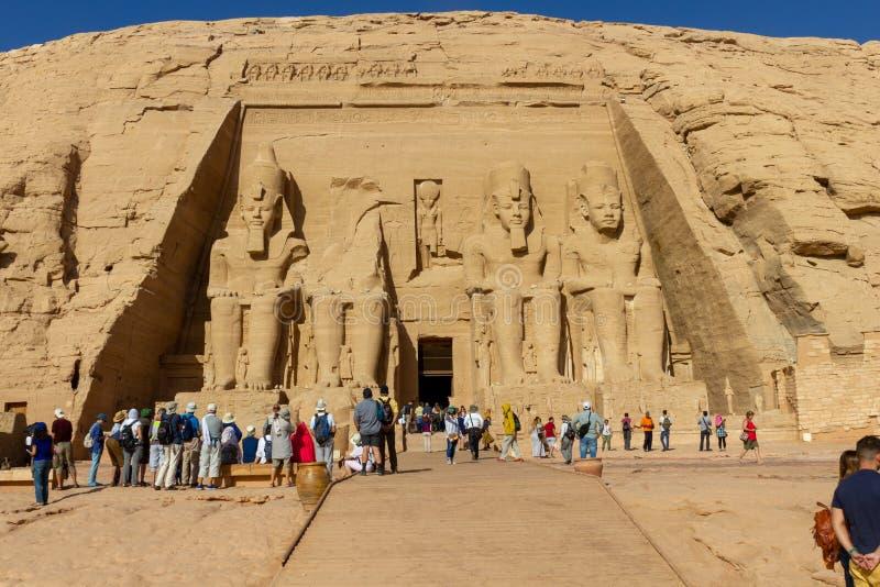 Abu Simbel ?wi?tynia w Egipt zdjęcie stock