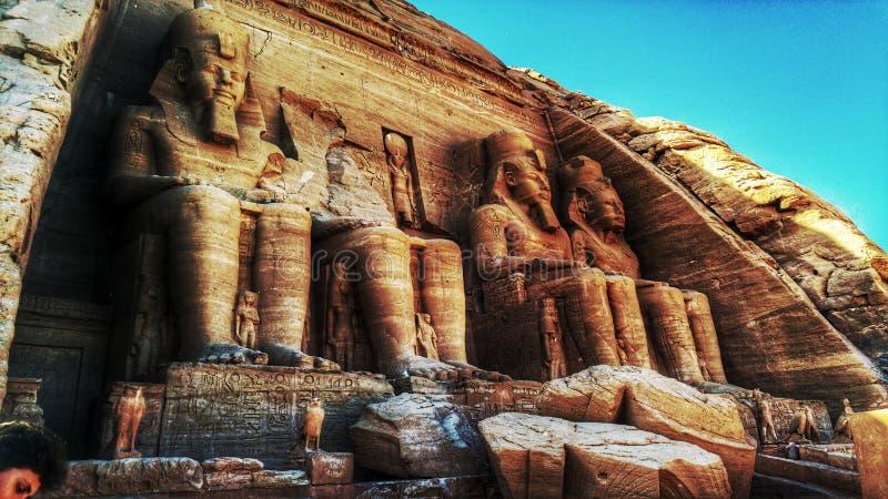 Abu simble tempel arkivfoton